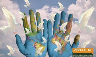 Wereldhanden met duiven